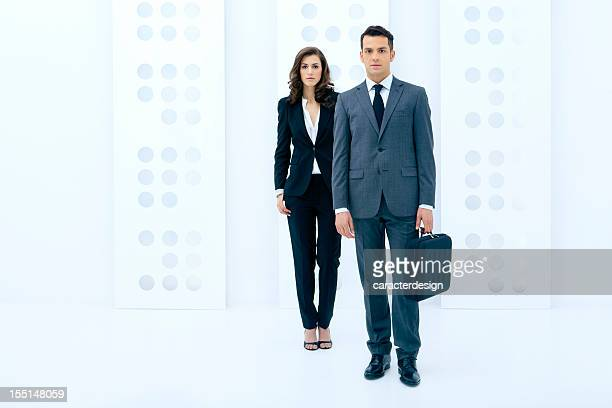 Business people in a modern building