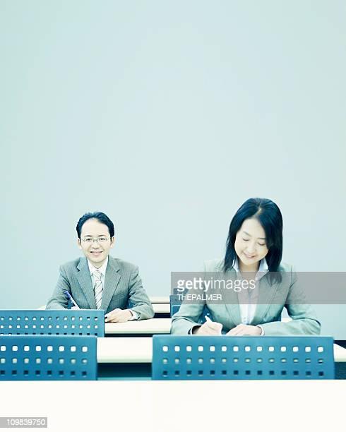 ビジネスの人々は大人向け教授法のスクール形式
