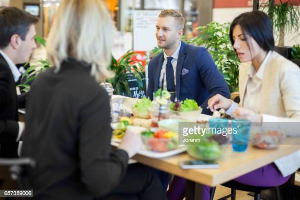 Business people in cafeteria