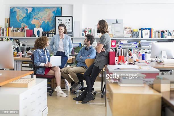 Business people in design studio.