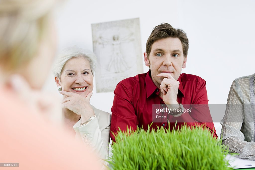 Business people in discussion : Stock Photo