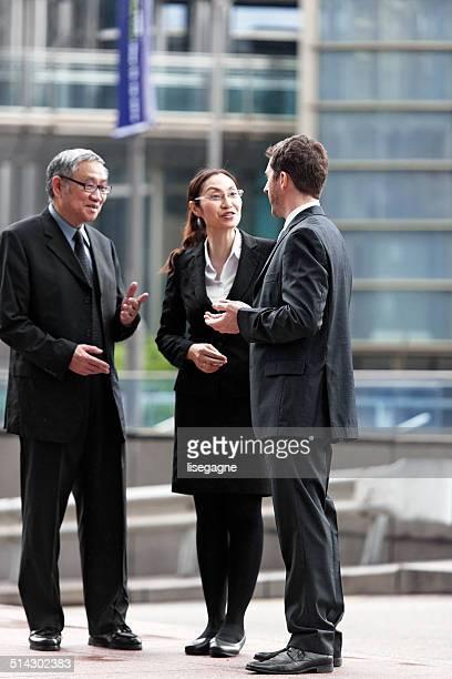 Geschäftsleute in Hong Kong