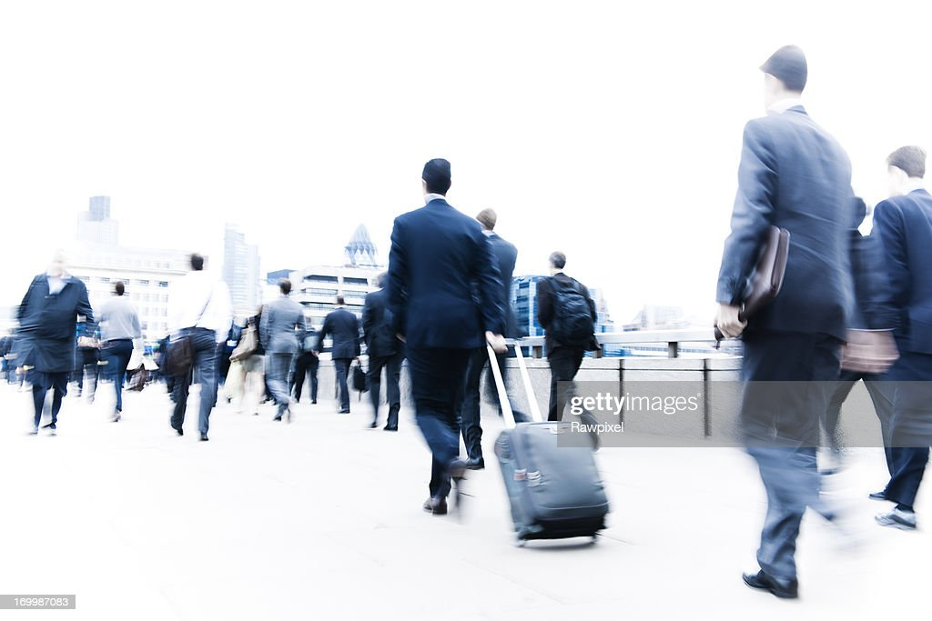 Business people in London city : Stock Photo