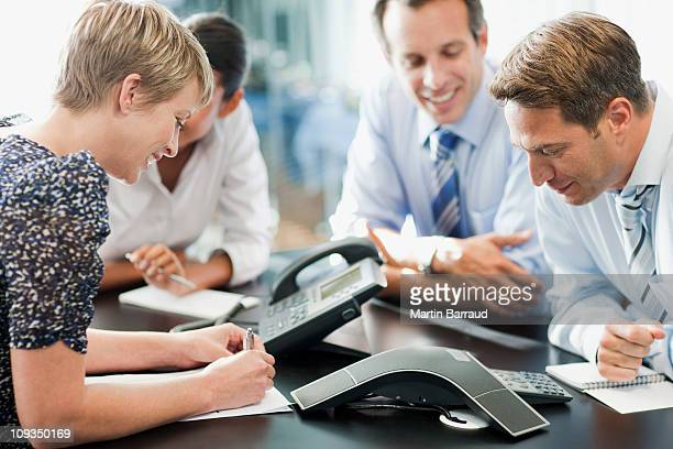 Business people in meeting on conference call
