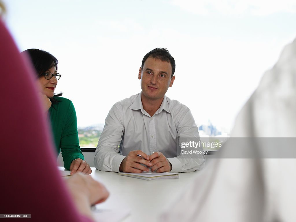 Business People In Meeting Stock Photo | Getty Images