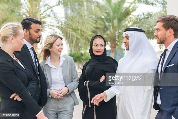Uomini d'affari in Medio Oriente