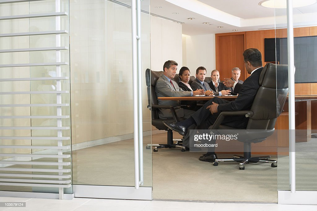 Business people in office meeting : Stock Photo