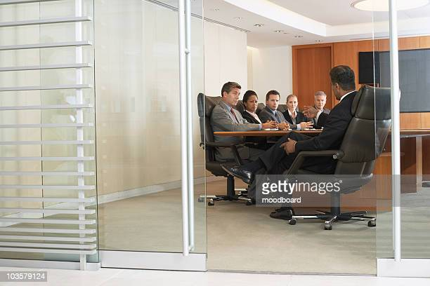 Business people in office meeting