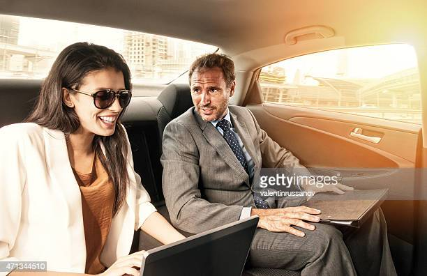 Business people in the car