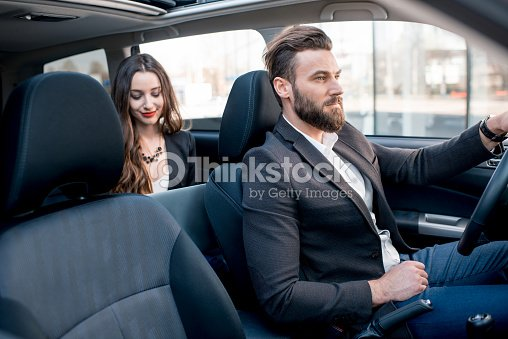 business people in the car ストックフォト thinkstock