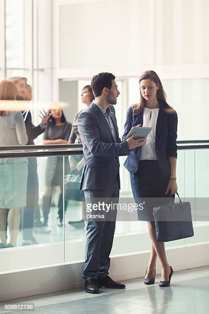 Business people in the lobby