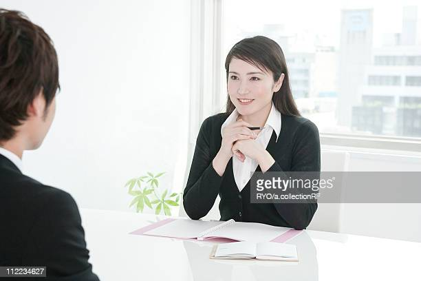 Business people in the meeting