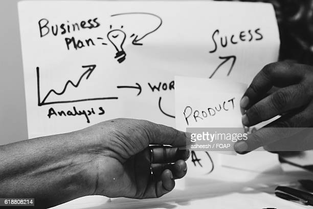 Business people making business plan
