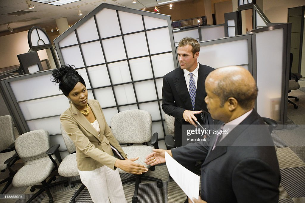 Business people meeting and shaking hands : Stock Photo