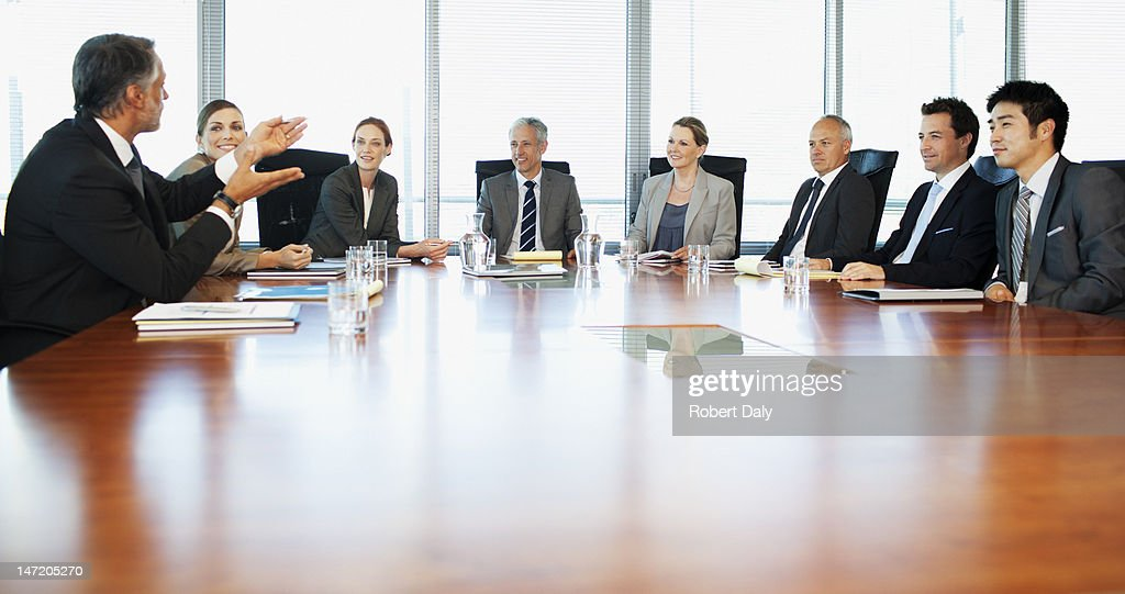 Business people meeting at table in conference room : Stockfoto