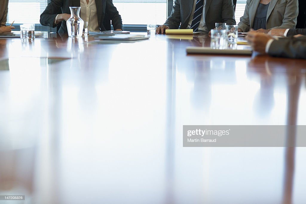 Business people meeting at table in conference room : Stock Photo