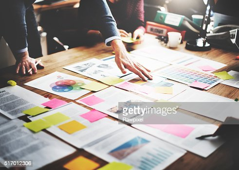 Business People Meeting Design Ideas Concept : Stock Photo