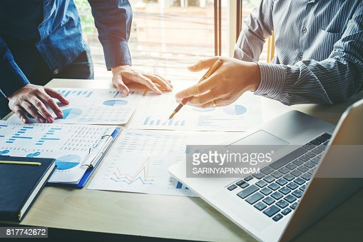 Business People meeting Planning Strategy Analysis  Concept  laptop meeting with technology : Stock Photo
