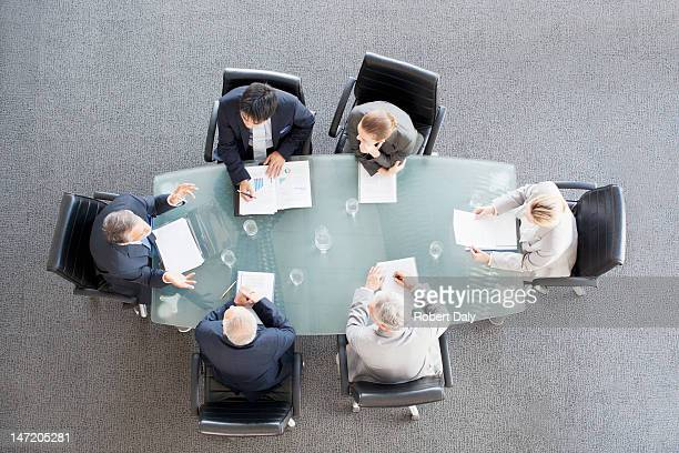 Business people meting at table in conference room