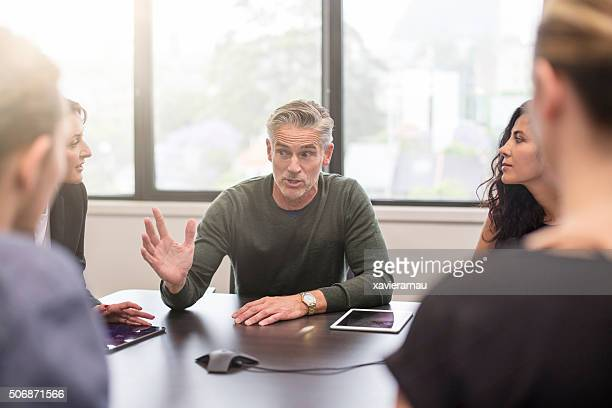 Business people on a meeting at the office