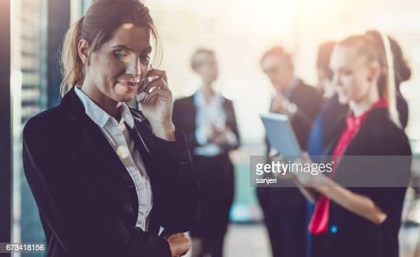 Geschäftsleute auf eine Tagung