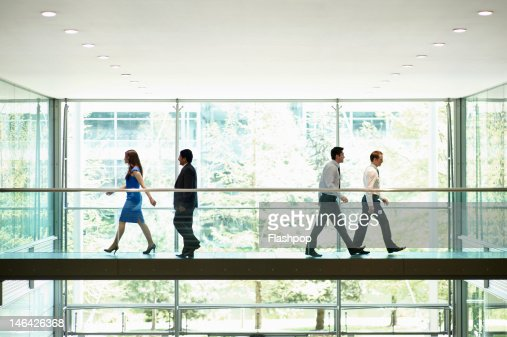 Business people on the move : Stock Photo
