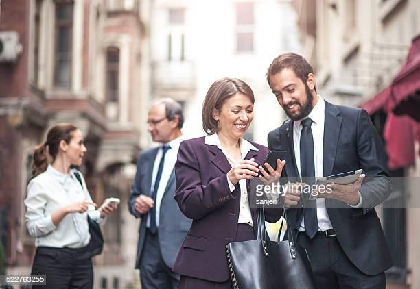 Business-Leute auf der Straße