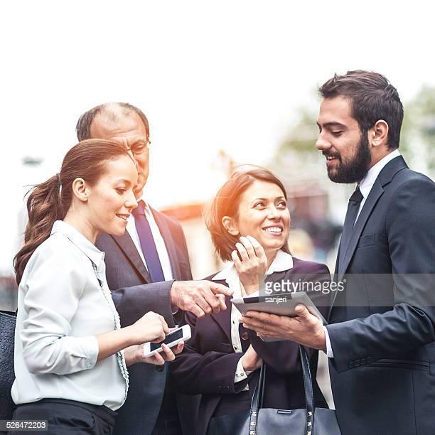 ビジネスの人々の street