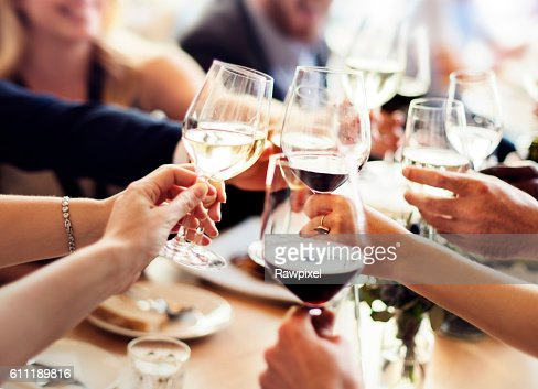 Business People Party Celebration Success Concept : Foto de stock