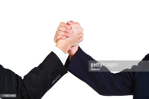Business people rivalry or unity-XXXL
