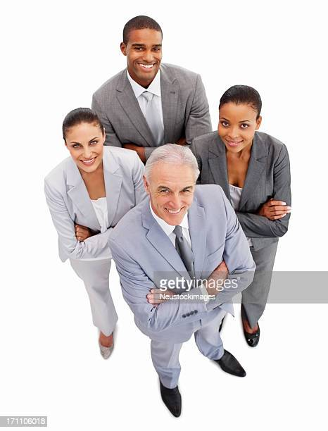 Geschäftsleute stehen zusammen-isoliert