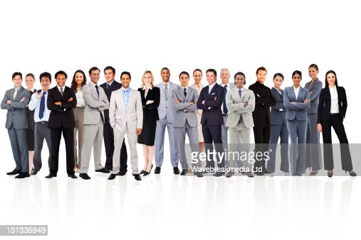 Business people standing up : Stock-Foto