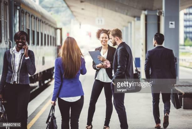Business People Taking Public Transportation