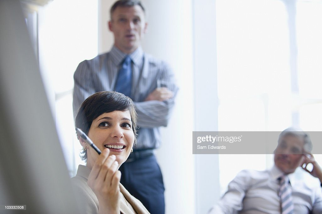 Business people talking in meeting : Stock Photo