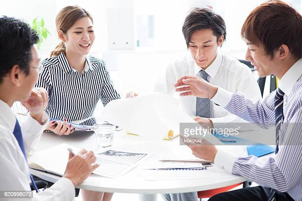Business people that have a planning meeting at the office