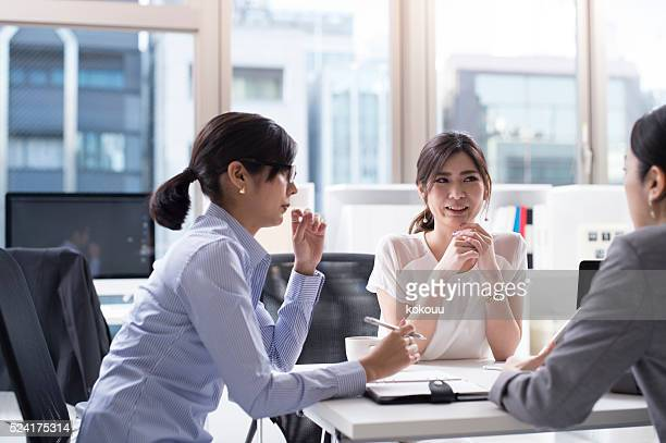 Business people that the eagerly meeting in the office