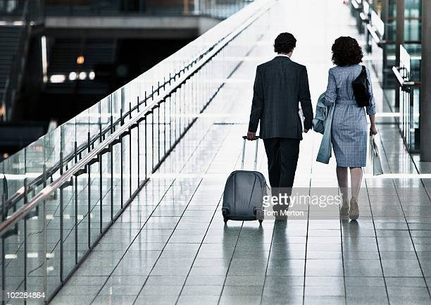 Business people traveling together