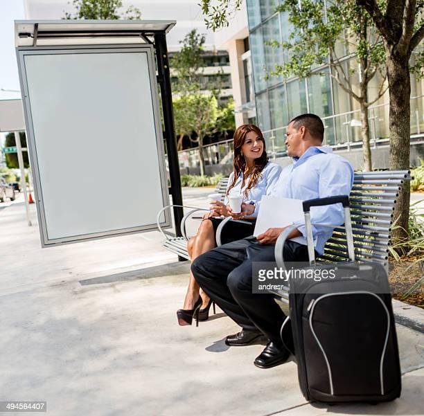 Pessoas em viagem de negócios