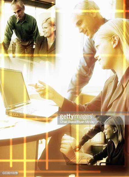 Business People Using a Laptop Computer