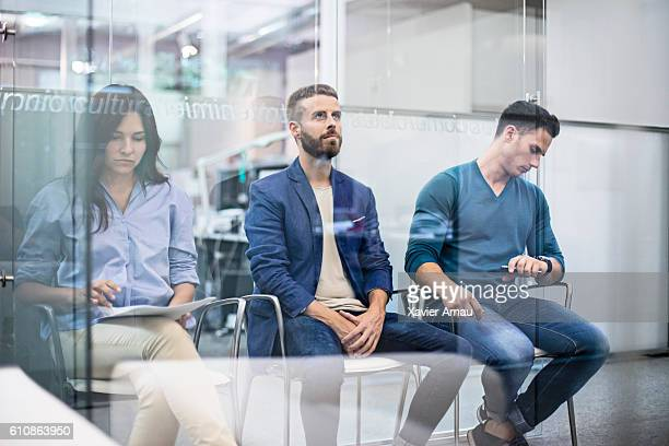 Business people waiting for an interview job