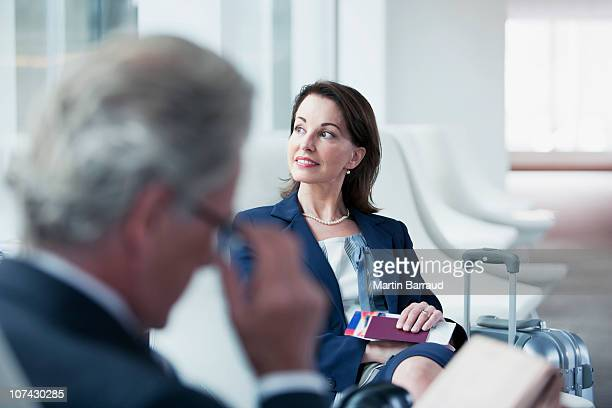 Business people waiting in airport