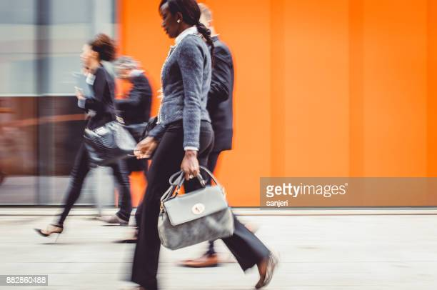 Business People Walking, Blurred Motion