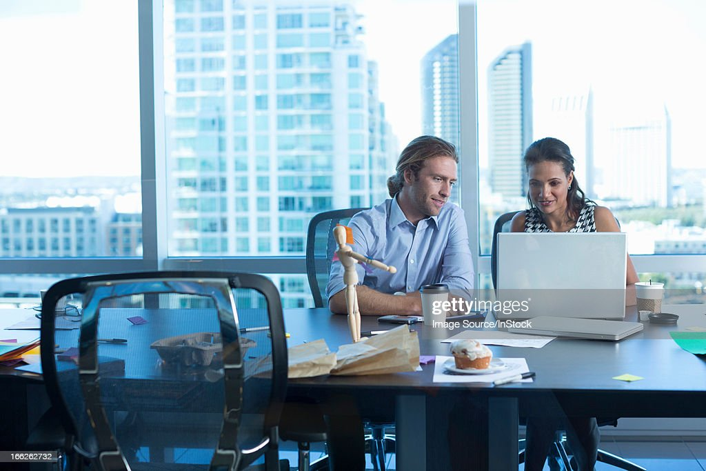 Business people working at desk : Stock Photo