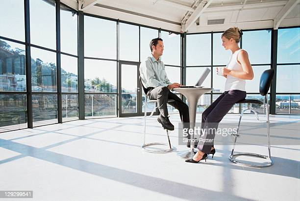 Business people working at modern desk