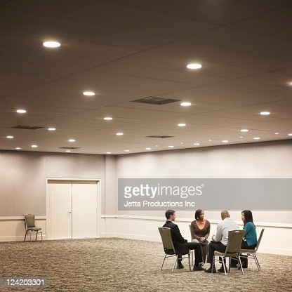 Business people working in hotel meeting room : Stock Photo