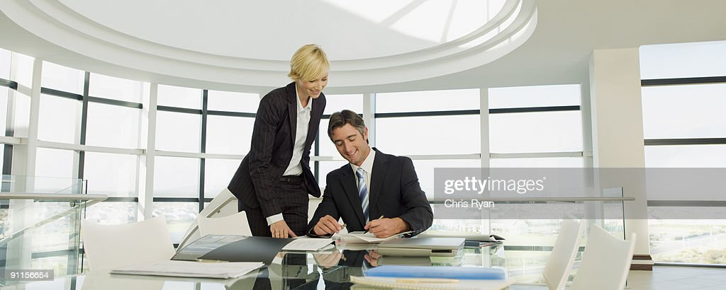 Business people working in modern office : Stock Photo