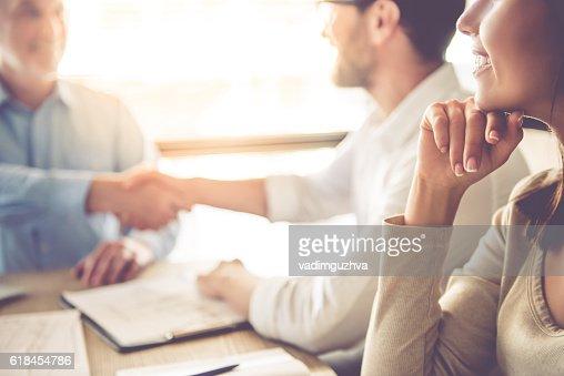 Las personas de negocios trabajando  : Foto de stock