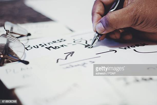Business person drawing light bulb
