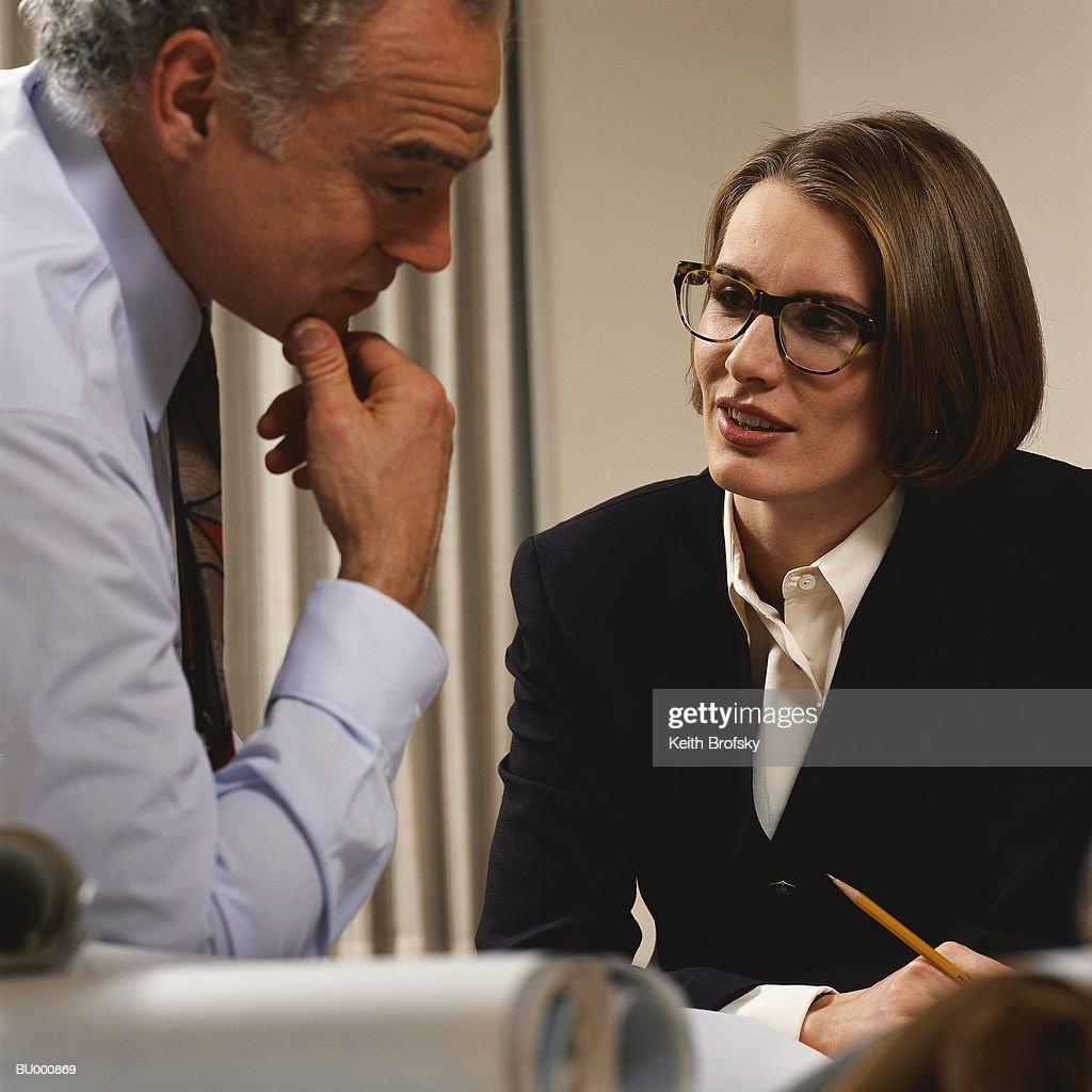 business person Talking : Stock Photo