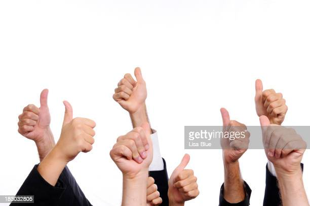 Business Persons Thumbs Up.Isolated.Copyspace